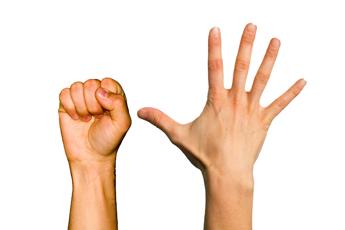 Сжимание пальцев